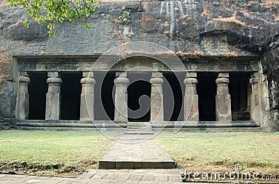 Elephanta Cave Temple facade, Mumbai