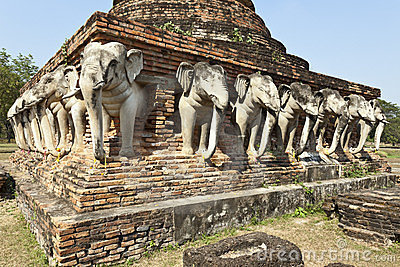 Elephants of Ancient Siam Temple