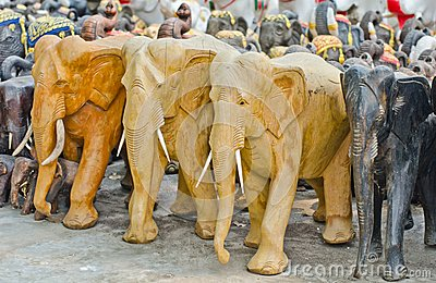 Elephants  for worship.