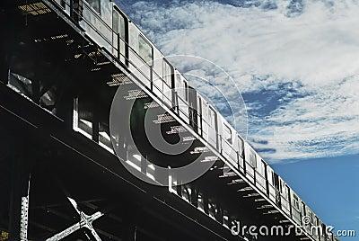 Elevated subway NYC