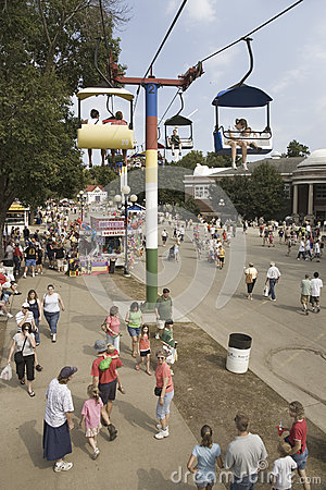 Elevated view of Iowa State Fair, Editorial Stock Image
