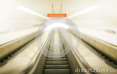 Elevator through brightness