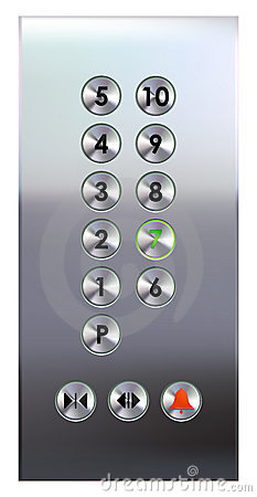 Elevator Buttons Panel Stock Photos Image 9760493