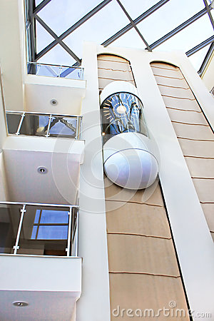 Elevator in the modern building