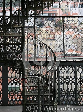 Elevator of Santa Justa in Lisbon
