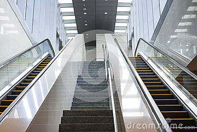 Elevator and staircase royalty free stock photography for Indoor elevator