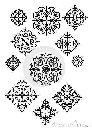 Free Eleven Ornate Designs Royalty Free Stock Images - 3274449