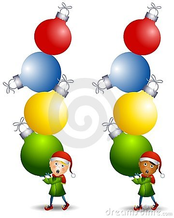 Free Elf Carrying Ornaments Royalty Free Stock Photography - 7171807