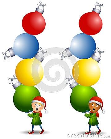 Elf Carrying Ornaments