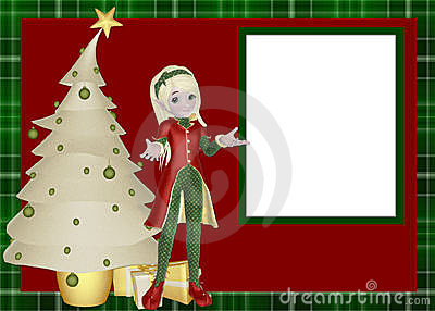 Elf Christmas Scrapbook Page