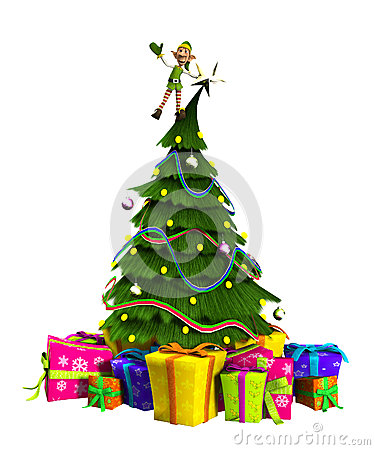 Elf op Kerstboom