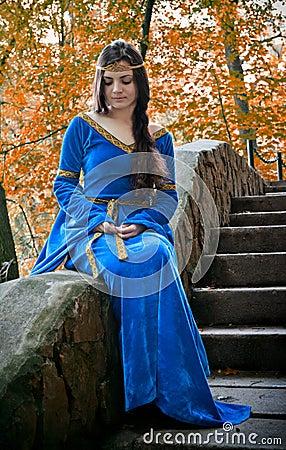 Free Elf Princess On Stone Staircase Stock Photo - 17733720