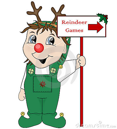 Elf and Reindeer Games sign