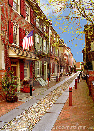 Free Elfreth S Alley Royalty Free Stock Photography - 1098057