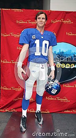 Eli Manning At Madame Tussauds Editorial Photo