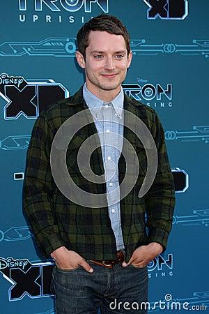 Elijah Wood arrives at the Disney XD s  Editorial Stock Photo