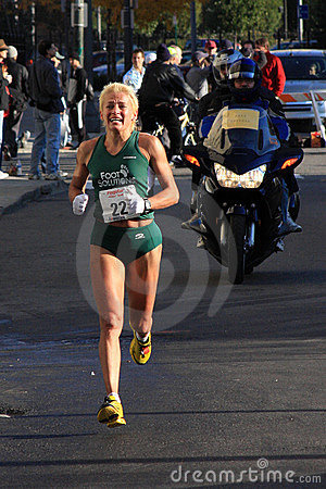 Elite Female Marathon Runner Editorial Photo - Image: 6812041