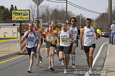 Elite Men runners Editorial Stock Photo