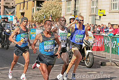 Elite Mens Marathon runners Editorial Photo
