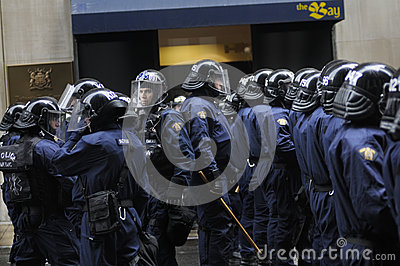 Elite police officers. Editorial Photo