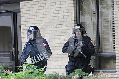 Elite riot police officers. Editorial Photography