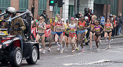 Elite women athletes at London marathon 2010 Editorial Photo