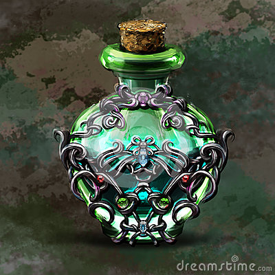Free Elixir Of Fantasy Games For A Bottle Stock Photo - 83372890