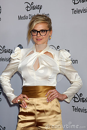 Eliza Coupe arrives at the ABC / Disney International Upfronts Editorial Photography