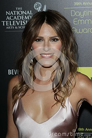 Elizabeth Hendrickson at the 39th Annual Daytime Emmy Awards, Beverly Hilton, Beverly Hills, CA 06-23-12 Editorial Photo
