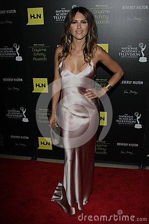 Elizabeth Hendrickson at the 39th Annual Daytime Emmy Awards, Beverly Hilton, Beverly Hills, CA 06-23-12 Editorial Stock Photo