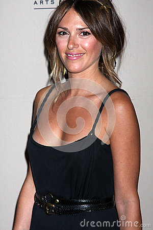 Elizabeth Hendrickson arrives at the ATAS Daytime Emmy Awards Nominees Reception Editorial Photo