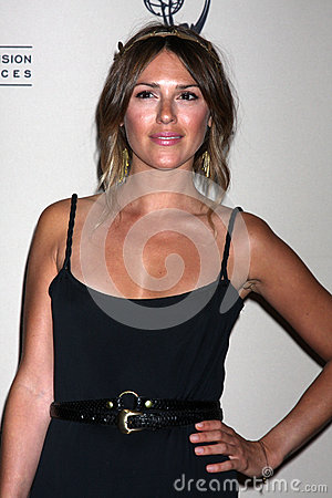 Elizabeth Hendrickson arrives at the ATAS Daytime Emmy Awards Nominees Reception Editorial Stock Photo