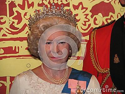Elizabeth ii królowej statuy wosk Obraz Editorial