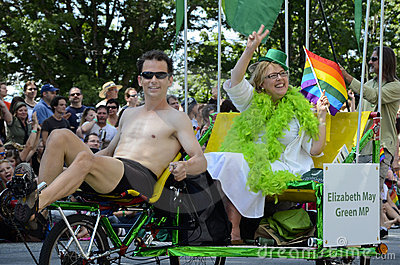 Elizabeth May at Vancouver Pride Parade Editorial Photo