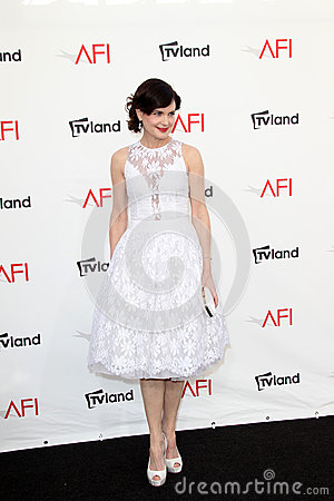 Elizabeth McGovern arriving at the AFI Life Achievement Award Honoring Shirley MacLaine Editorial Stock Photo