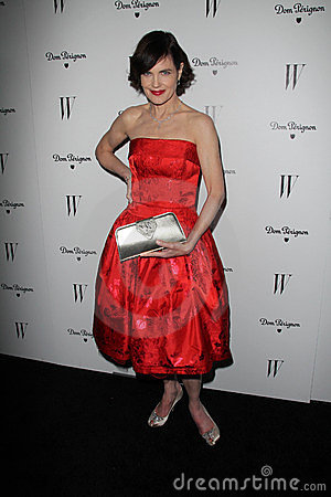 Elizabeth McGovern at the W Magazine Best Performances Issue Golden Globes Party, Chateau Marmont, West Hollywood, CA 01-13-12 Editorial Stock Image