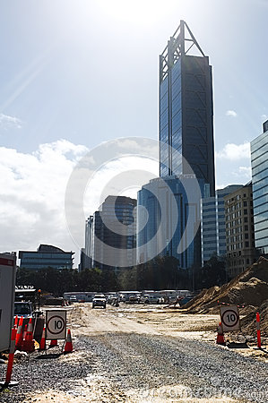 Elizabeth Quay Construction Site Editorial Photo