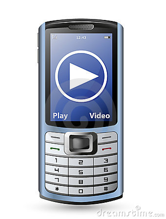 Сell phone and video service button