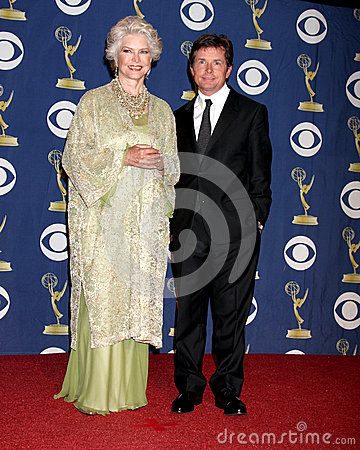 Ellen Burstyn,Michael J Fox Editorial Photography
