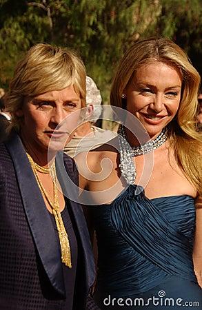 Ellen De Generes, Portia De Rossi Editorial Stock Image