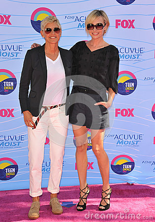 Ellen Degeneres,Portia De Rossi Editorial Photo