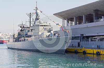 Elli class frigate F-462  Editorial Stock Photo