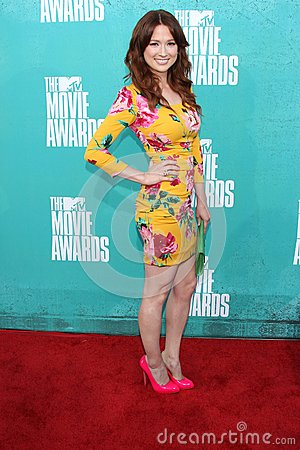 Ellie Kemper at the 2012 MTV Movie Awards Arrivals, Gibson Amphitheater, Universal City, CA 06-03-12 Editorial Photography