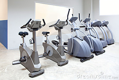 Elliptical cross trainer, bicycle treadmill