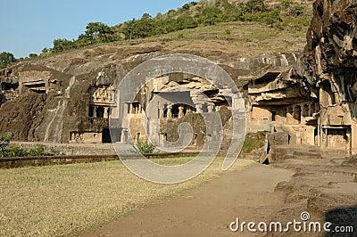 Ellora - big religious cave complex,India