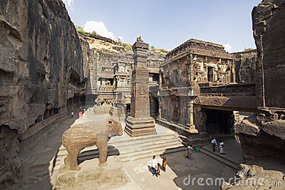 Ellora Caves. Ancient Hindu Rock Temple