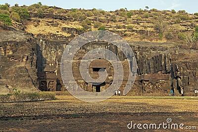 Ellora Caves. Ancient Hindu Rock Temple