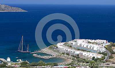 Elounda bay at Crete island in Greece