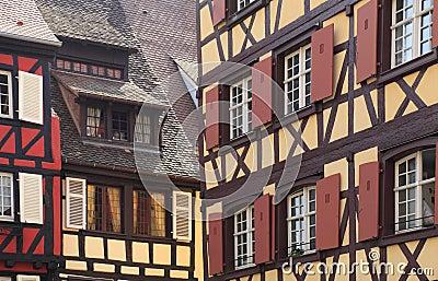Elsässischer Architekturauszug