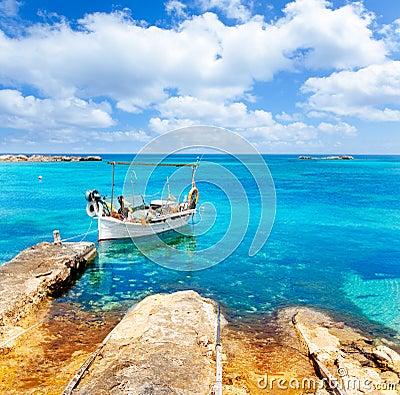 Els Pujols beach in Formentera